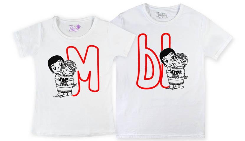 Фото парных футболок с героями Love is…